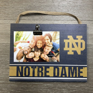 Clip It Weathered Logo Photo Frame - Univ of Notre Dame