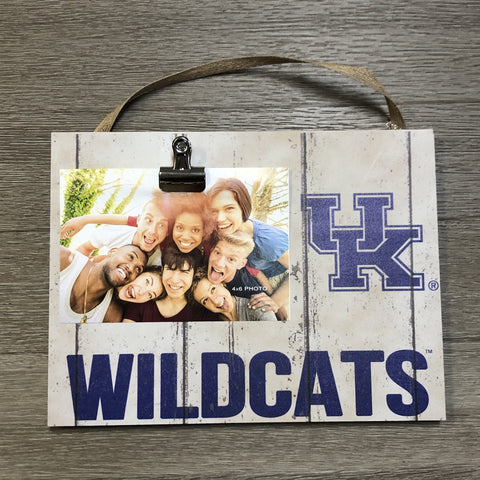 Clip It Weathered Logo Photo Frame - Univ of Kentucky Wildcats