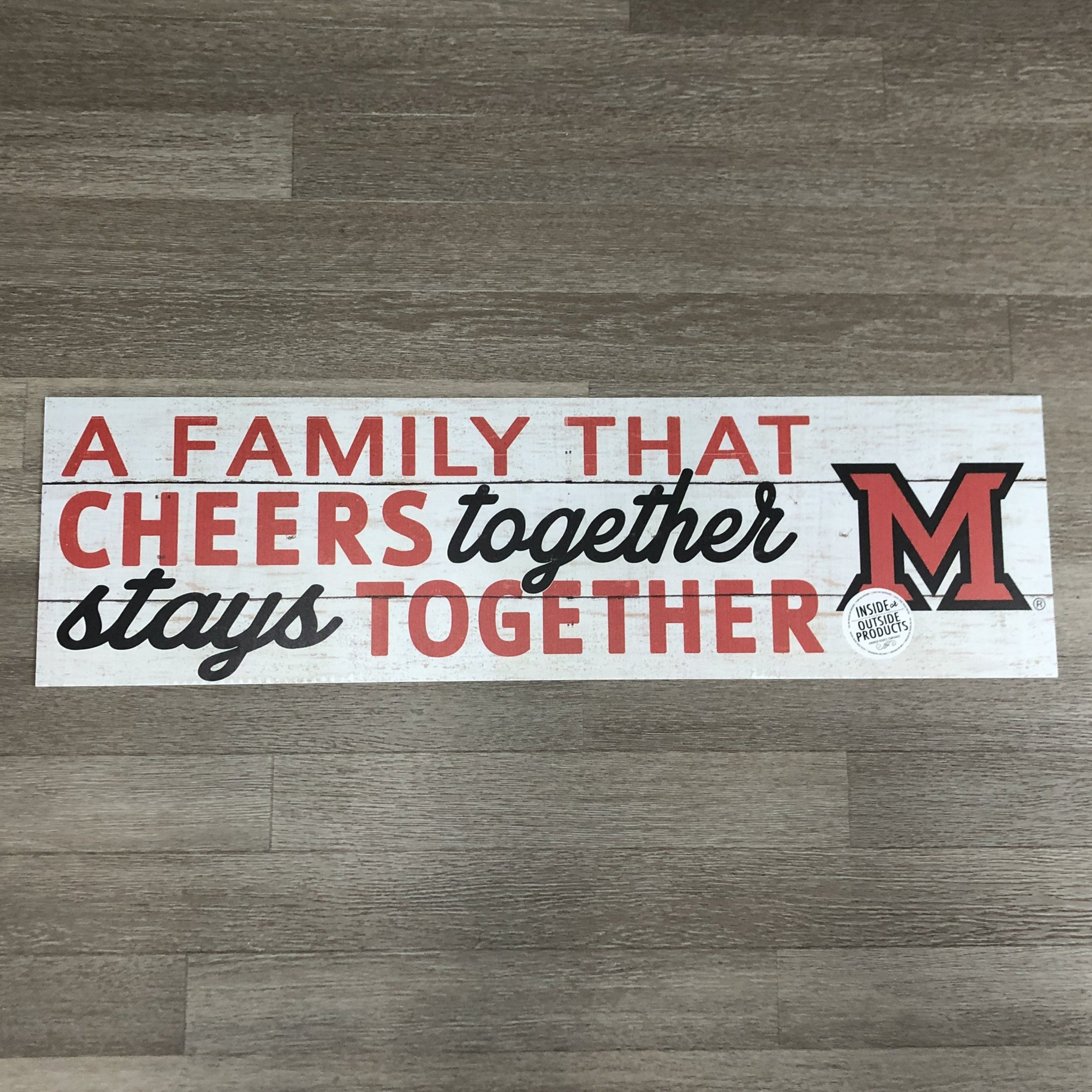 Miami Redhawks Family that Cheers | 35x10 Indoor/Outdoor Sign