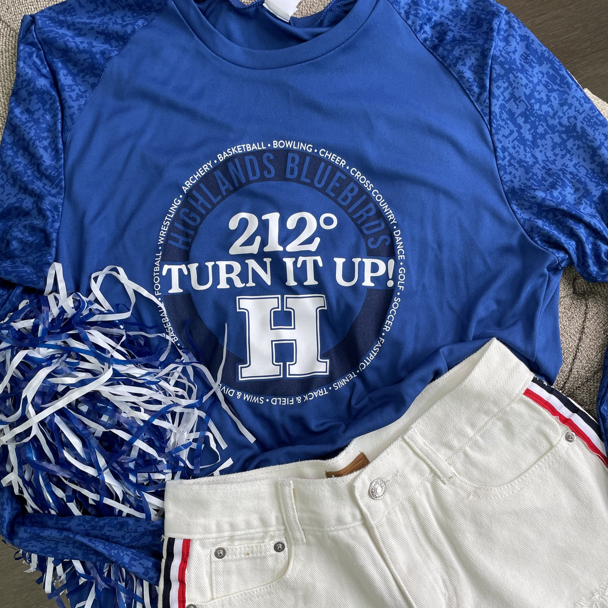 212° TURN IT UP!  HHS All Sports LS Camo