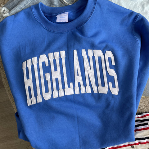 Highlands Applique Arch Sweatshirt