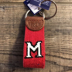 Miami University Embroidered Key Fob