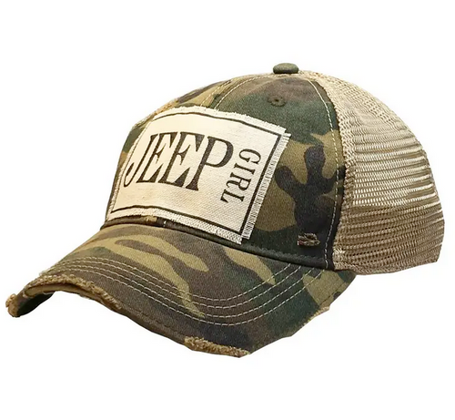 Jeep Girl Camo Trucker Cap