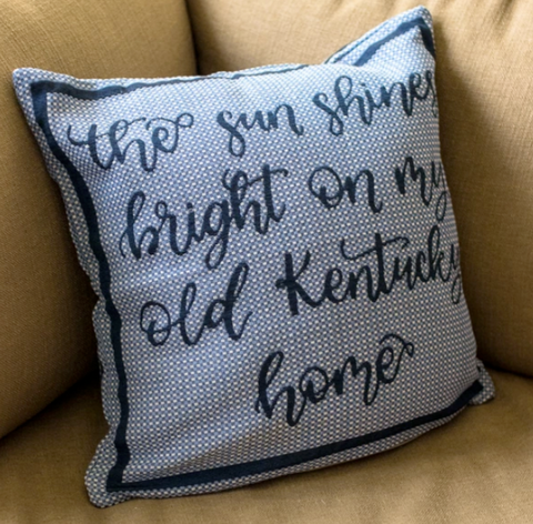 Sun Shines Kentucky Pillow