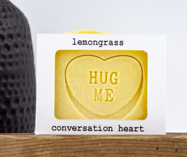 All-Natural Conversation Heart Valentine Bar Soap