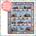 Glamping Gypsies ALL BLOCKS Laser Cut Pre Fused Applique Quilt Kit