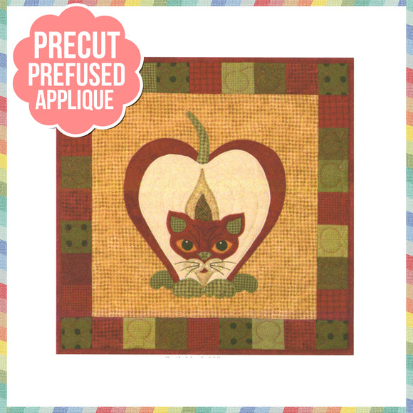 Garden Patch Cats - Pippin Puss Laser Cut Pre Fused Applique Quilt Kit