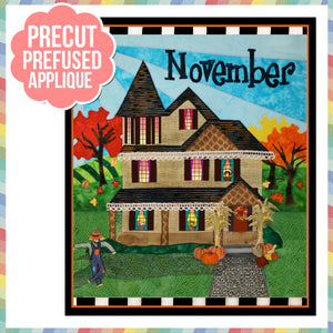 Holiday Houses - November - Full Kit (Includes Background & Binding)