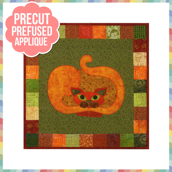 Garden Patch Cats - Pumpkat Laser Cut Pre Fused Applique Quilt Kit