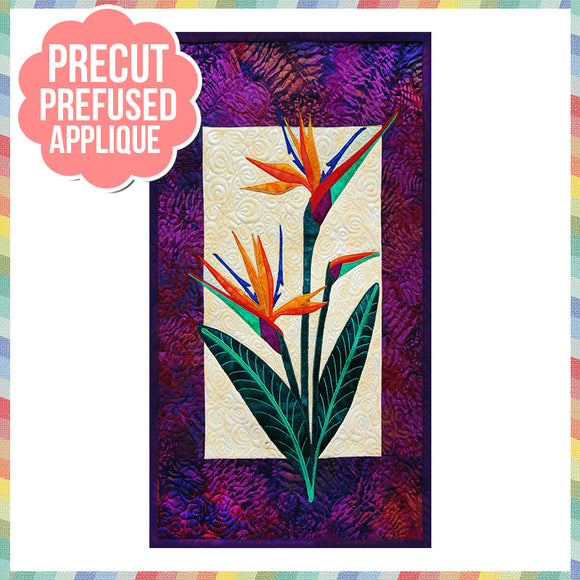 Bird of Paradise Laser Cut Pre Fused Applique Quilt Kit