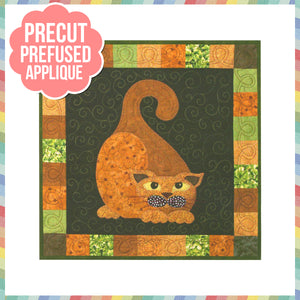 Garden Patch Cats - Gourdo Cato Laser Cut Pre Fused Applique Quilt Kit
