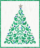 Blue and Silver Applique Christmas Tree 20""
