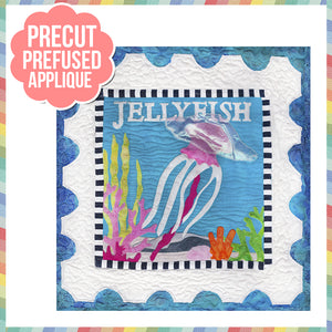 Sea Life-Jellyfish Laser Cut Pre Fused Applique Quilt Kit