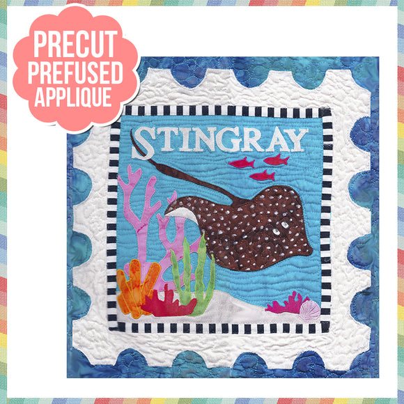 Sea Life-Stingray Laser Cut Pre Fused Applique Quilt Kit