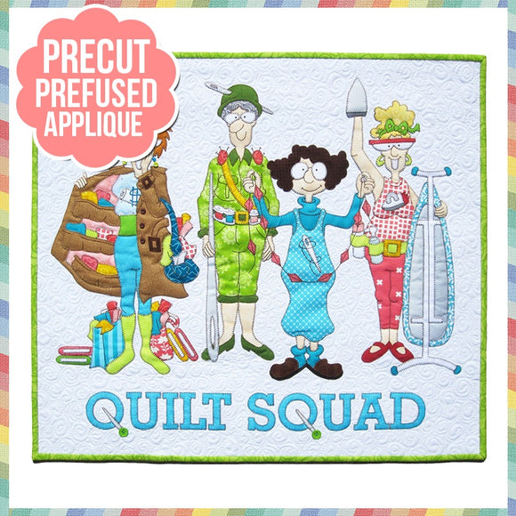 Quilt Squad Laser Cut Pre Fused Applique Quilt Kit