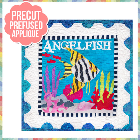 Sea Life-Angelfish Laser Cut Pre Fused Applique Quilt Kit