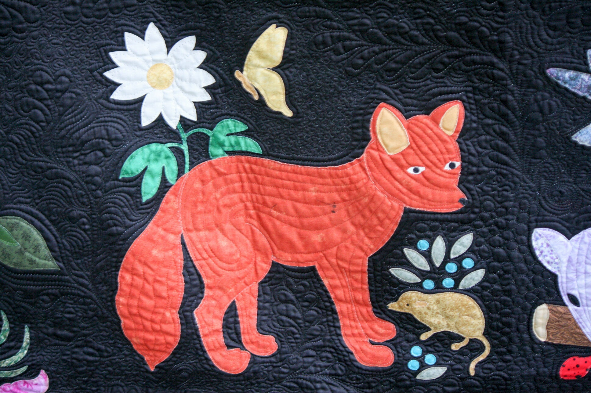 Woodland creatures pattern only laser cut & pre fused applique