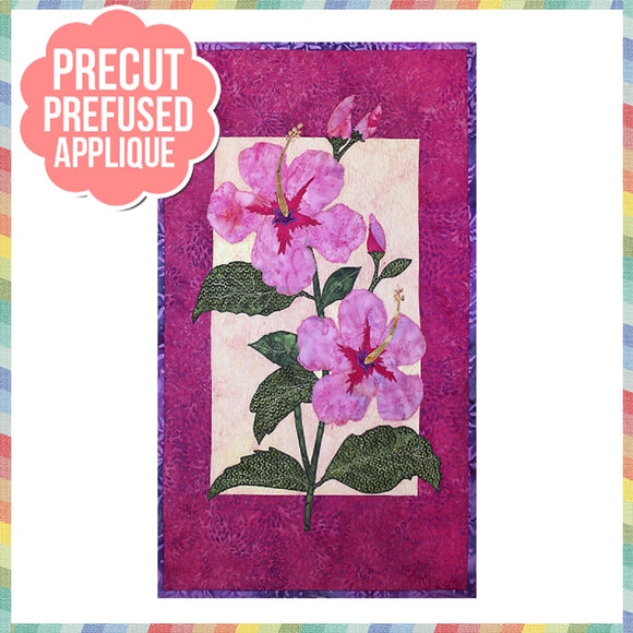 Hibiscus Laser Cut Pre Fused Applique Quilt Kit