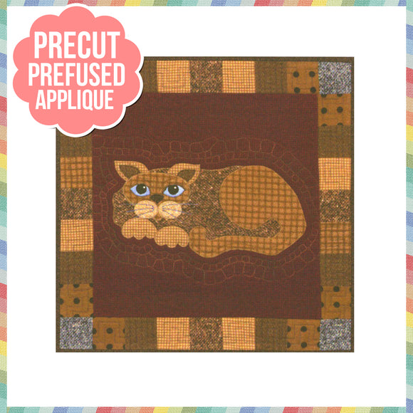 Garden Patch Cats - Tater Puss Laser Cut Pre Fused Applique Quilt Kit