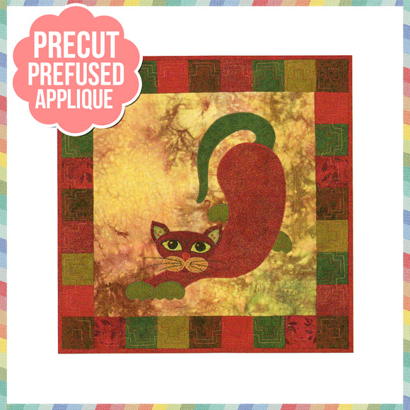 Garden Patch Cats - Poblano Laser Cut Pre Fused Applique Quilt Kit