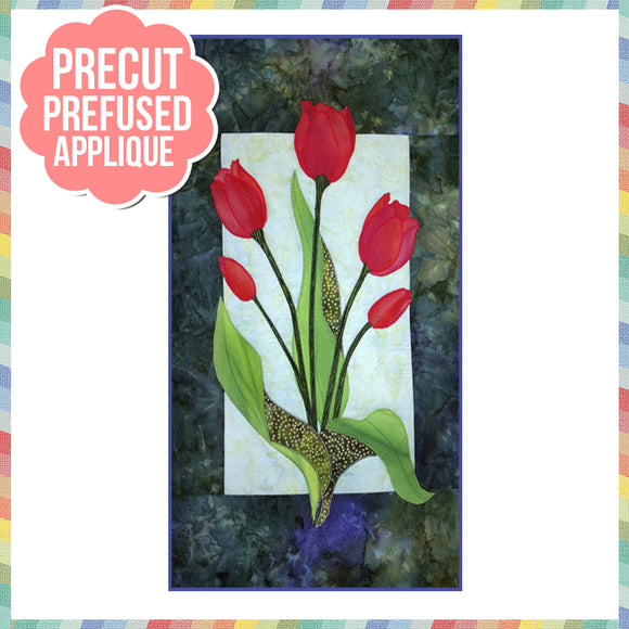 Tulip Laser Cut Pre Fused Applique Quilt Kit