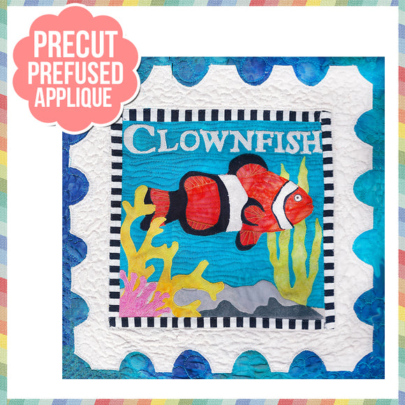 Sea Life-Clowfish Laser Cut Pre Fused Applique Quilt Kit