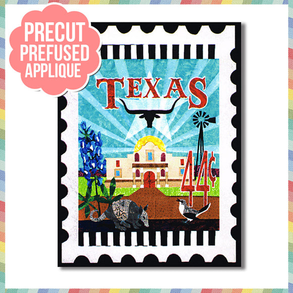 texas-stamp-full-kit Laser Cut Pre Fused Applique Quilt Kit