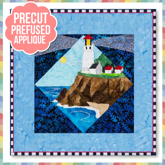 Lt House 3 - Heceta Head, OR Laser Cut Pre Fused Applique Quilt Kit
