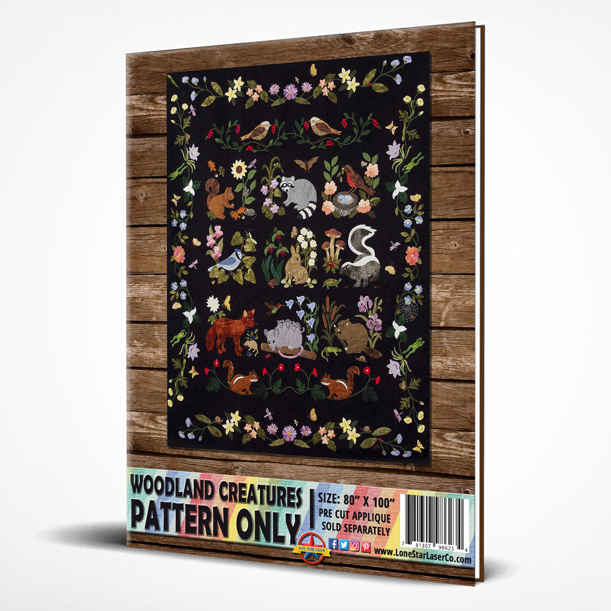 Woodland Creatures Pattern Only Laser Cut Amp Pre Fused