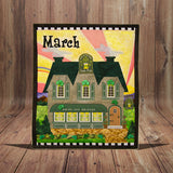 Holiday Houses - March - Full Kit (Includes Background & Binding)