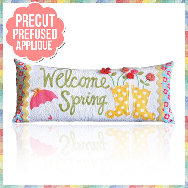 Welcome Spring (April) Laser Cut Pre Fused Applique Quilt Kit