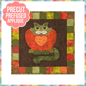 Garden Patch Cats - Purrsimmon Laser Cut Pre Fused Applique Quilt Kit