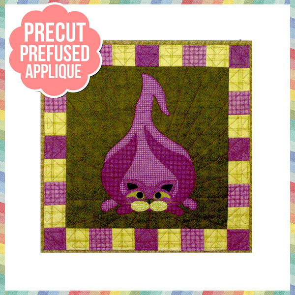 Garden Patch Cats - Walla Walla  Kitty Laser Cut Pre Fused Applique Quilt Kit
