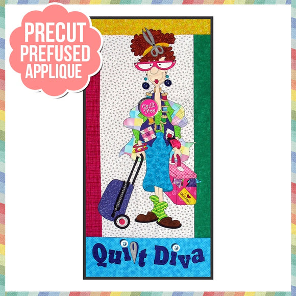 Quilt Diva Laser Cut Pre Fused Applique Quilt Kit