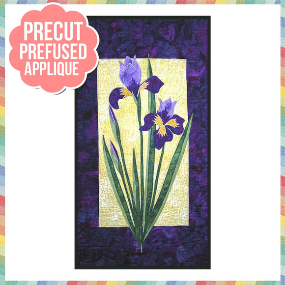 Iris Laser Cut Pre Fused Applique Quilt Kit