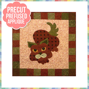 Garden Patch Cats - Strawpurry Laser Cut Pre Fused Applique Quilt Kit