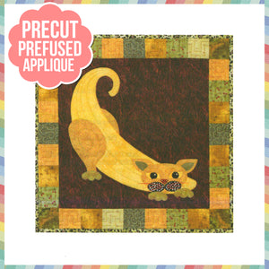 Garden Patch Cats - Banana Laser Cut Pre Fused Applique Quilt Kit