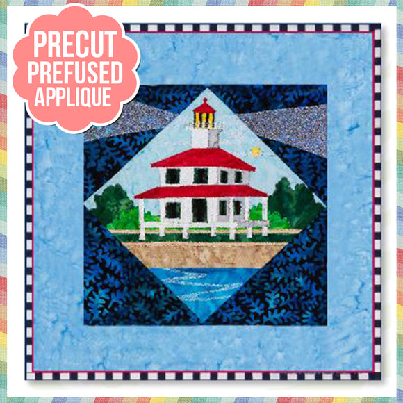 Lt House 12- New Canal, LA Laser Cut Pre Fused Applique Quilt Kit