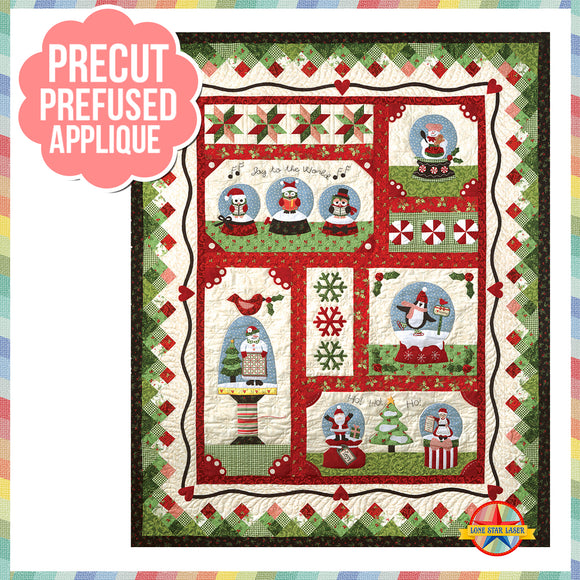 Snow Globe All Blocks Laser Cut Pre Fused Applique Quilt Kit