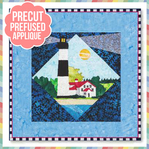 Lt House 11 - Big Sable Point, MI Laser Cut Pre Fused Applique Quilt Kit