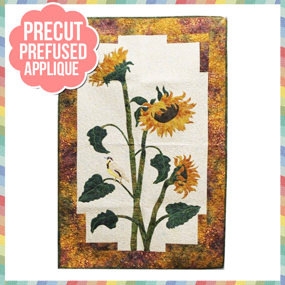 Sunflower Laser Cut Pre Fused Applique Quilt Kit