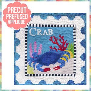 Sea Life - Crab Laser Cut Pre Fused Applique Quilt Kit