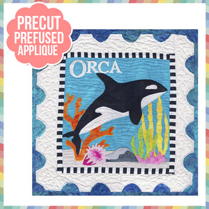 Sea Life-Orca Laser Cut Pre Fused Applique Quilt Kit