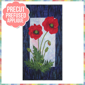 Poppies Laser Cut Pre Fused Applique Quilt Kit
