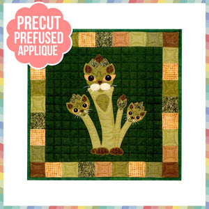 Garden Patch Cats - Aspurragus Laser Cut Pre Fused Applique Quilt Kit