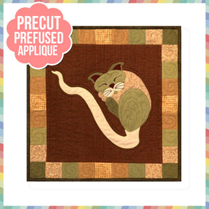 Garden Patch Cats - Sprouticat Laser Cut Pre Fused Applique Quilt Kit