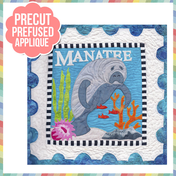 Sea Life-Manatee Laser Cut Pre Fused Applique Quilt Kit