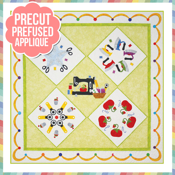 Stitchin Addiction Laser Cut Pre Fused Applique Quilt Kit