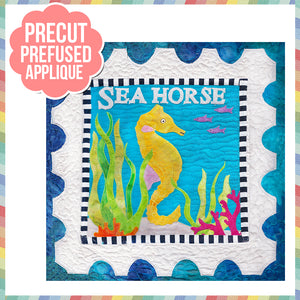 Sea Life-Sea Horse Laser Cut Pre Fused Applique Quilt Kit