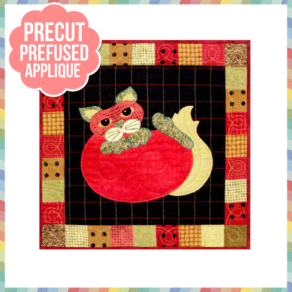 Garden Patch Cats - Tom-Ato Laser Cut Pre Fused Applique Quilt Kit